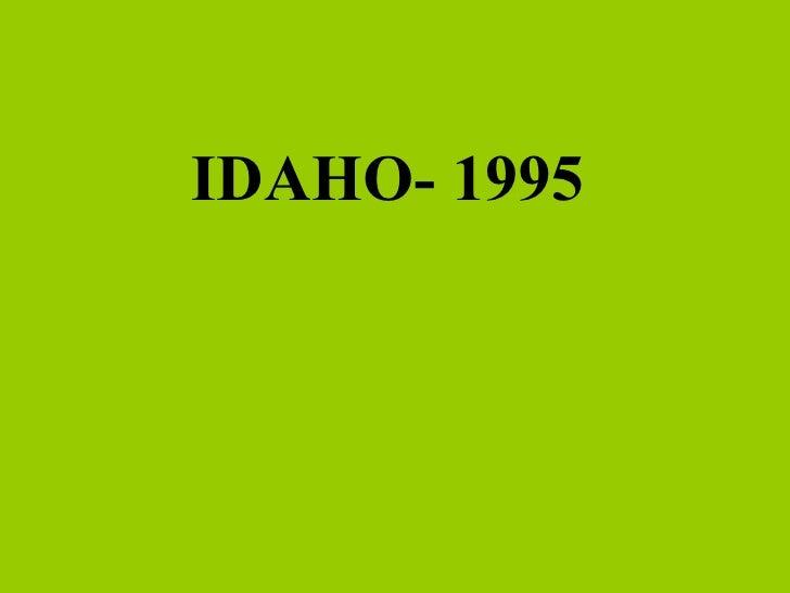 IDAHO- 1995