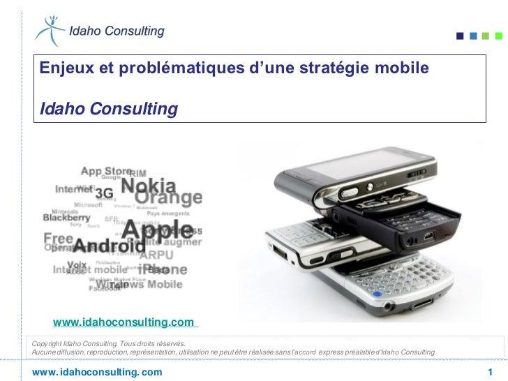 Idaho consulting : les enjeux d'une stratégie mobile