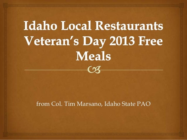 Idaho veterans appreciation 2013
