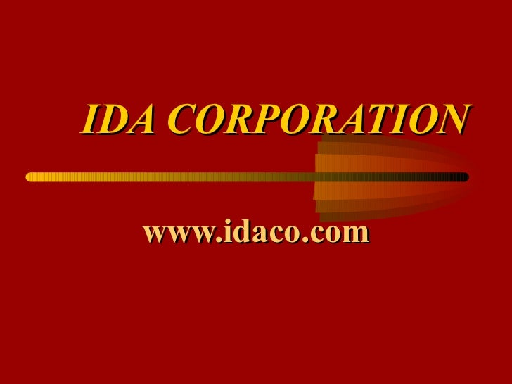 IDA Overview