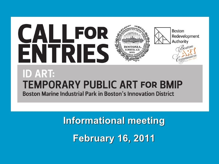 ID Art BMIP Call for Entry Info Meeting