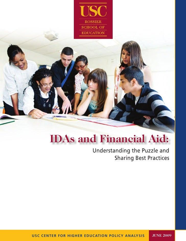 IDAs and Financial Aid
