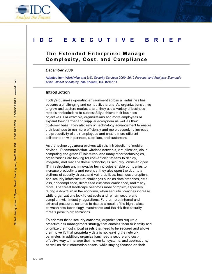 Idc cost complexitycompliance