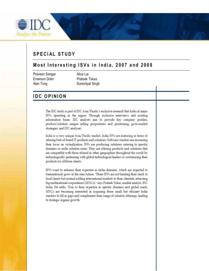 IDC Nominated InfoAxon as Most Interesting ISV in India
