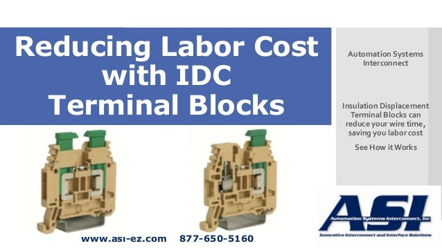 Reduce Labor Cost with IDC Terminal Blocks