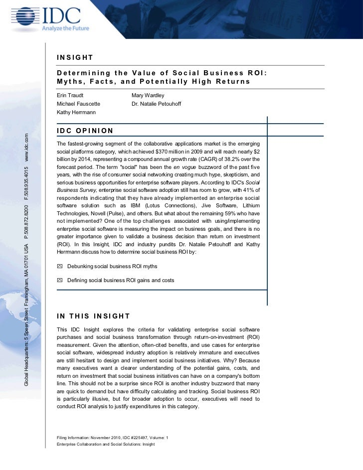 White Paper On The ROI Of Social Business