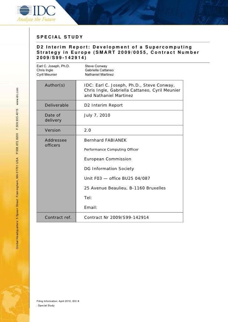 IDC: EU HPC Strategy