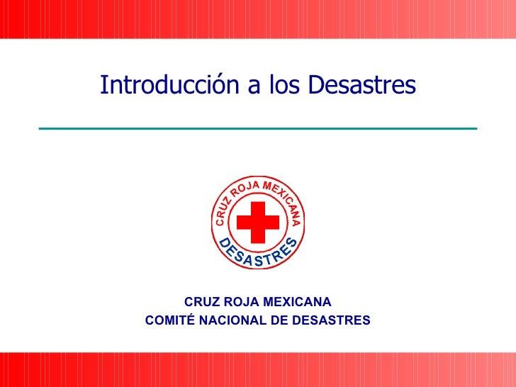 Introducción a los Desastres