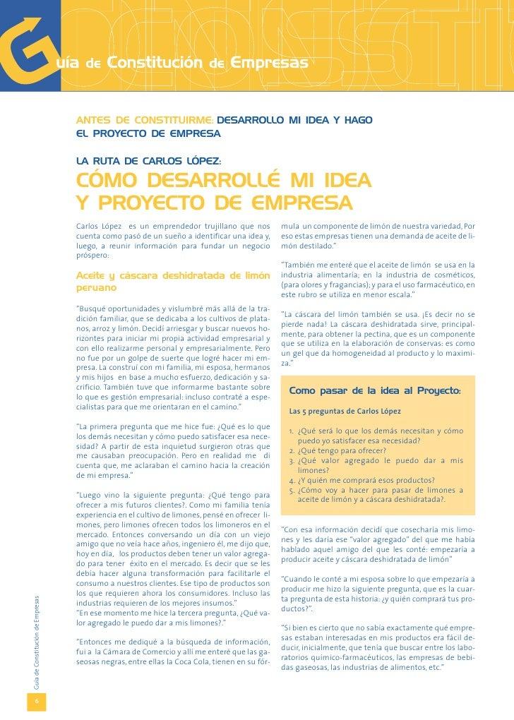 Idea Y Proyecto De Empresa