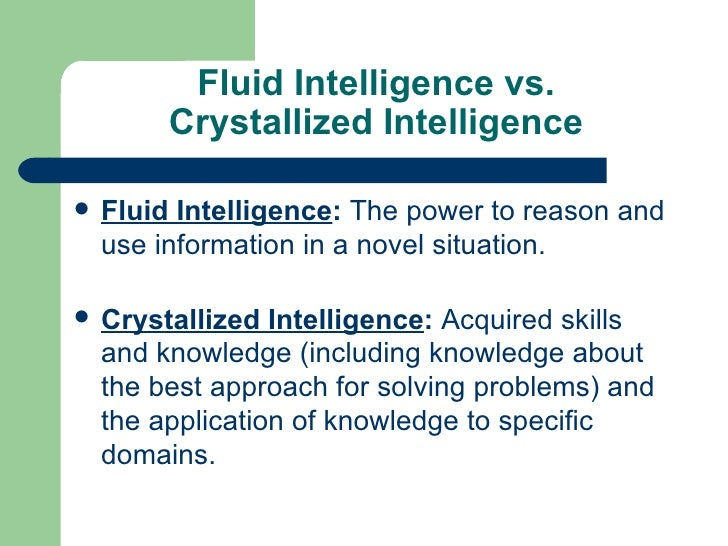 Crystallized Intelligence Psychology