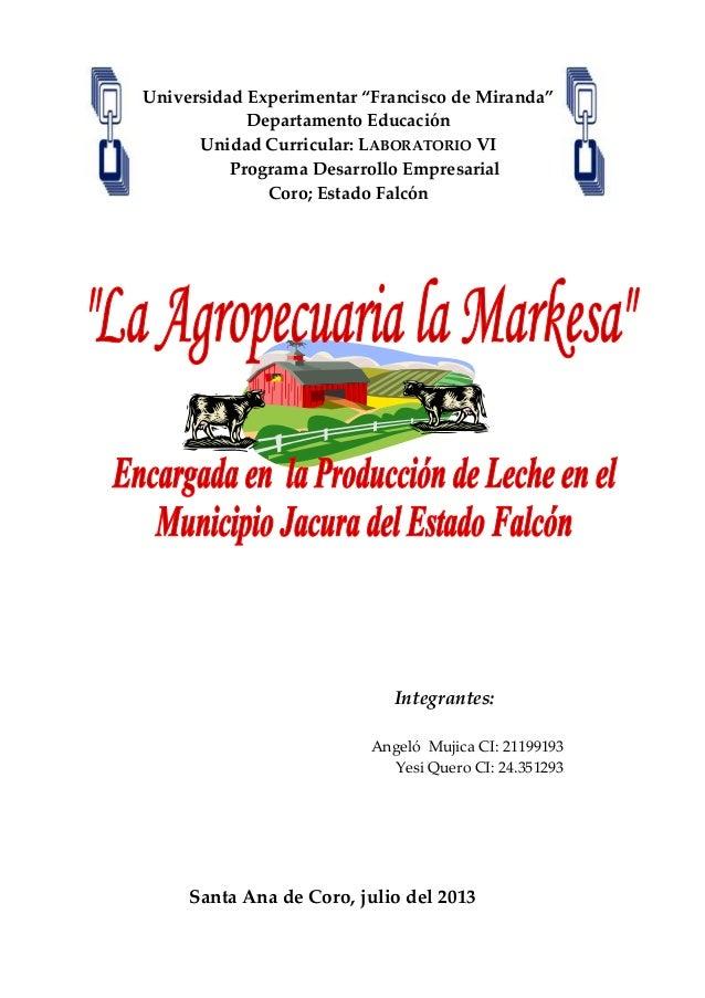 """Universidad Experimentar """"Francisco de Miranda"""" Departamento Educación Unidad Curricular: LABORATORIO VI Programa Desarrol..."""