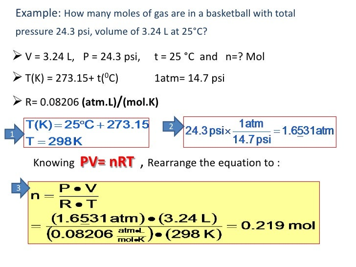 Ideal Gas Law Constant