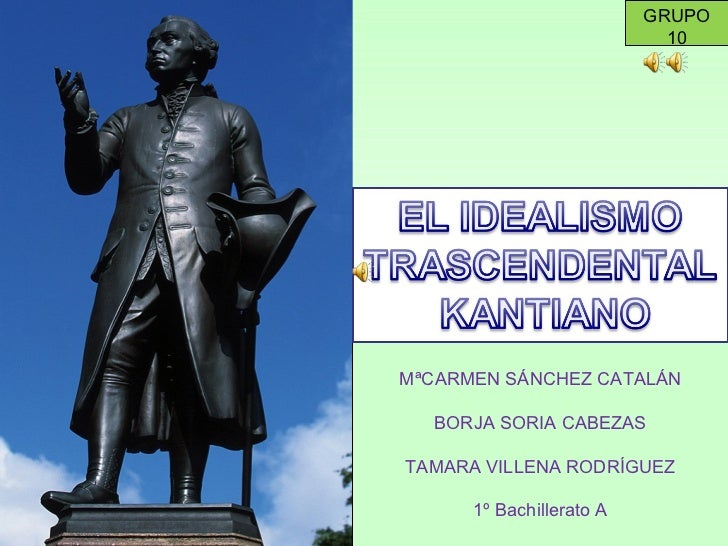 El idealismo trascendental