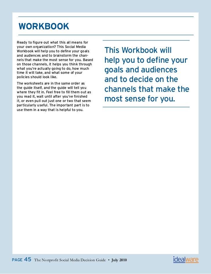 Idealware social media_workbook