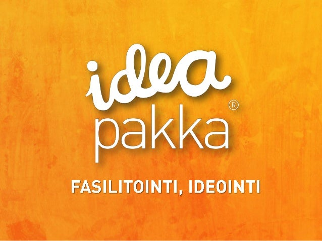 Ideapakka: fasilitointi, ideointi