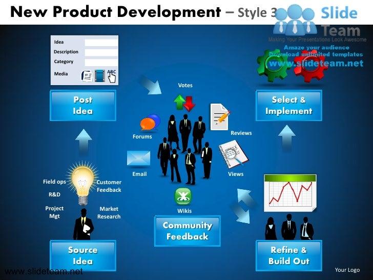 Idea refinement customer feedback new product development style design 3 powerpoint ppt slides.