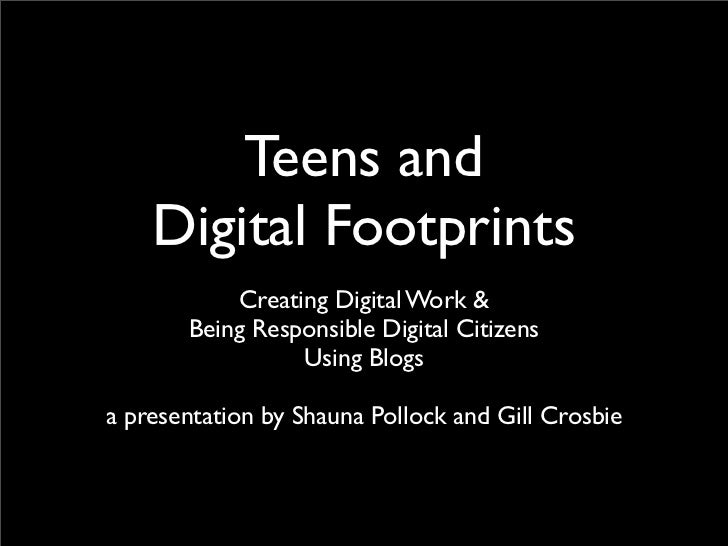 Digital Footprint and Blogging - IDEAS conference 2011