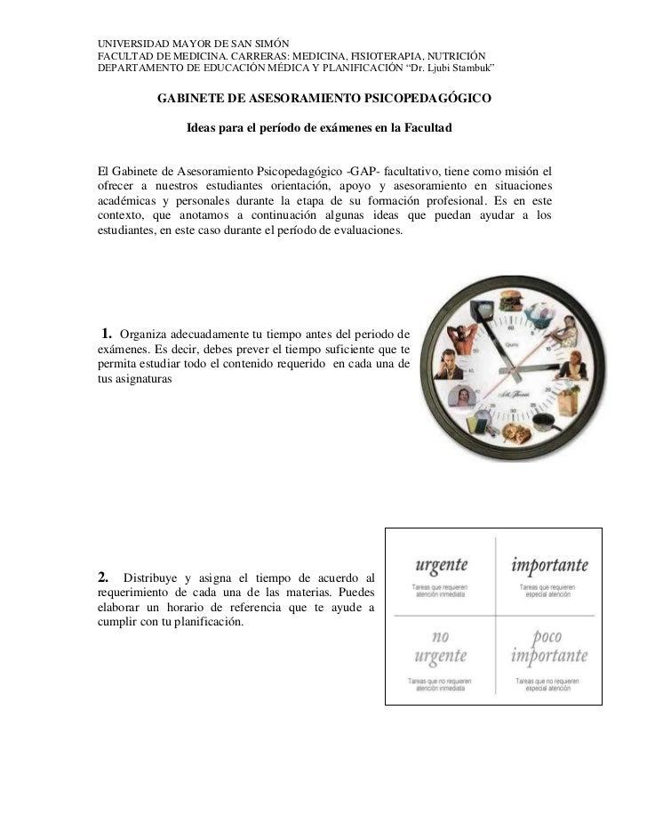 UNIVERSIDAD MAYOR DE SAN SIMÓNFACULTAD DE MEDICINA. CARRERAS: MEDICINA, FISIOTERAPIA, NUTRICIÓNDEPARTAMENTO DE EDUCACIÓN M...