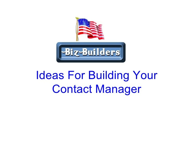 Ideas For Building Your Contact Manager