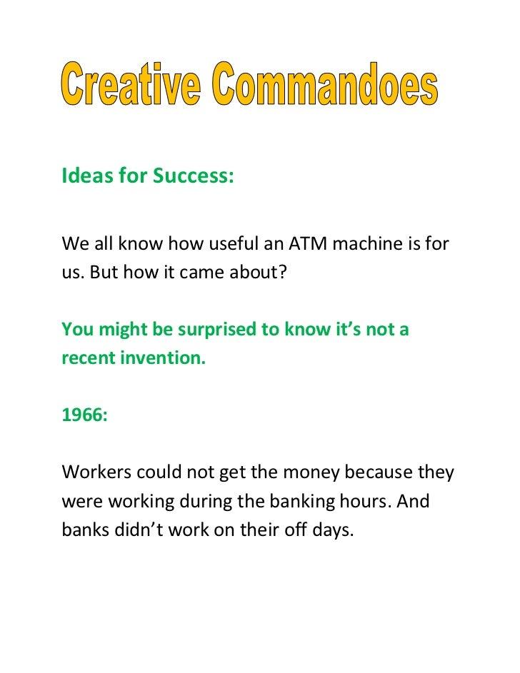 Ideas for success