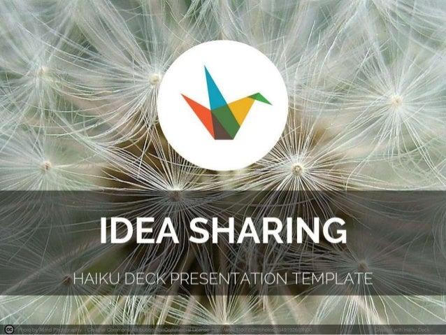 Idea Sharing Presentation Template
