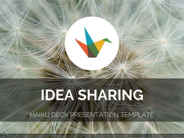 Idea Sharing Presentation Template
