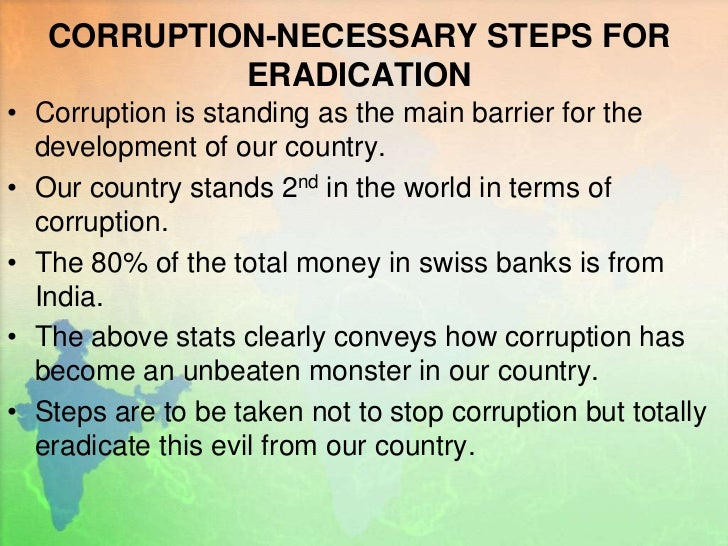 corruption in india essay