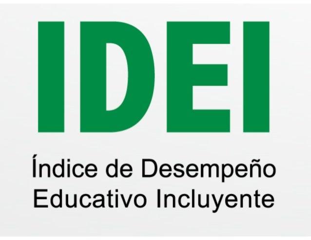 IDEI (2009 2013) Presentación del reporte. 18.02.14