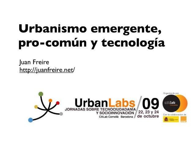 Urbanismo Emergente Urbanlabs09