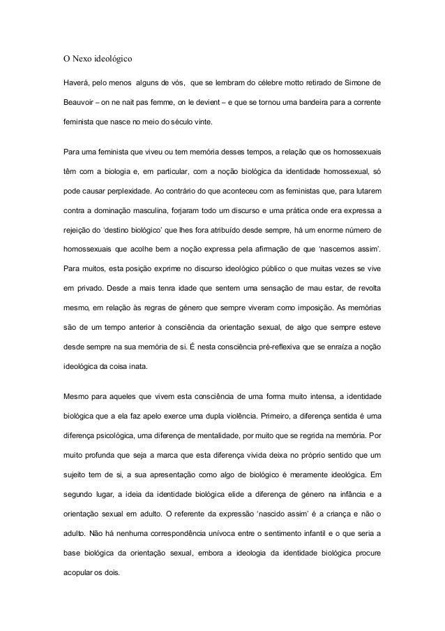 Identidadebiologica da homosexualidade