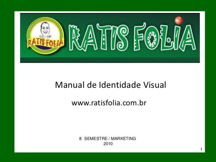 Identidade visual RATIS FOLIA