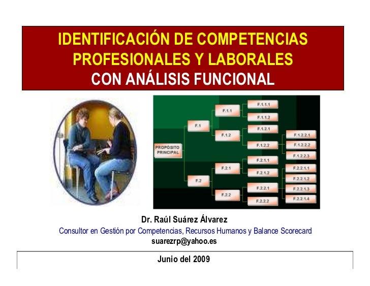 Identificación de Competencias Profesionales y Laborales con Análisis Funcional