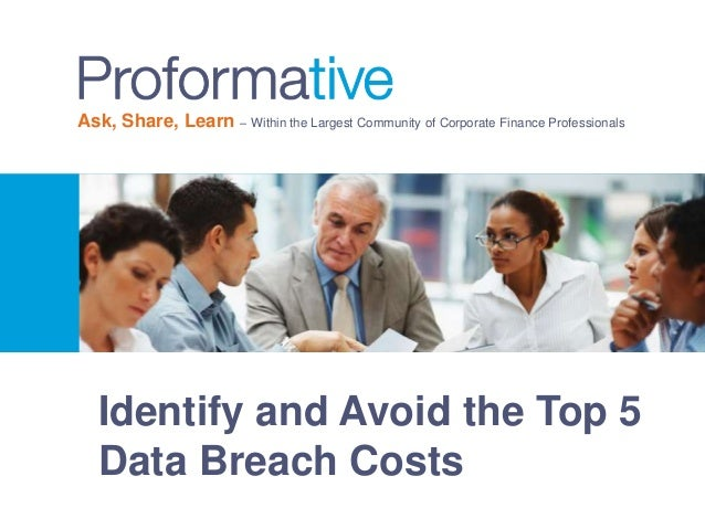 Identify and Avoid the Top 5 Data Breach Costs