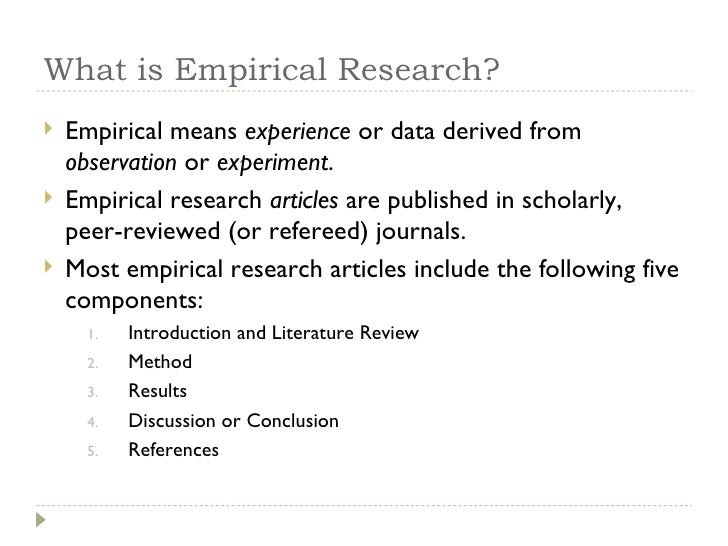 Empirical research paper format