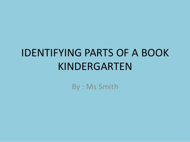 Identifying parts of a book