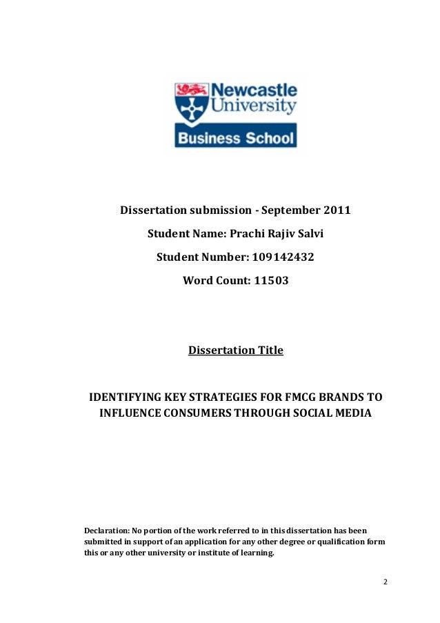 Dissertation word