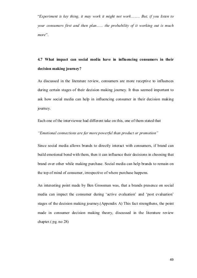 Dissertation paper on media