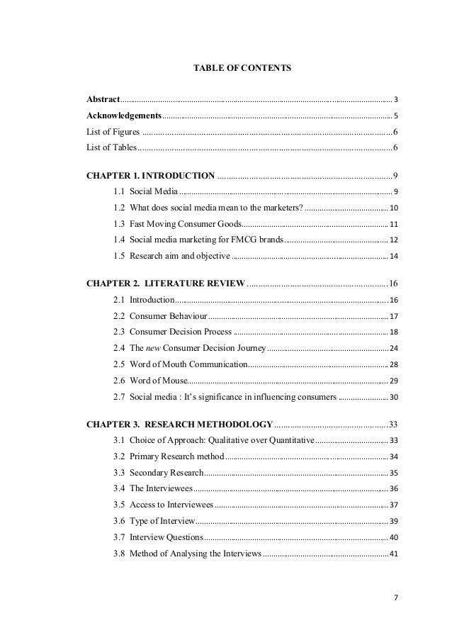 Dissertation regarding social networking