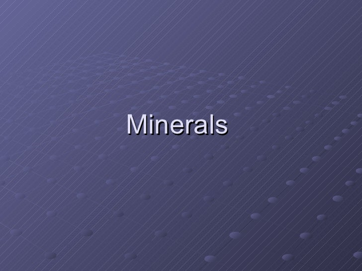 Earth Science: Identify minerals