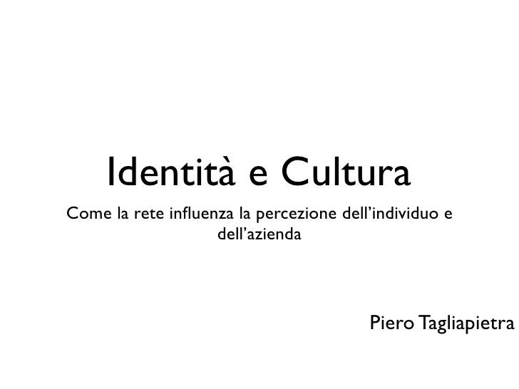 Identità e Cultura