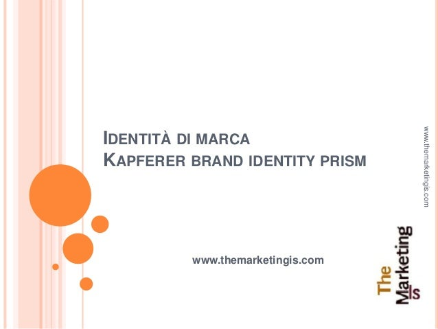 Identità di marca. Kapferer brand identity prism