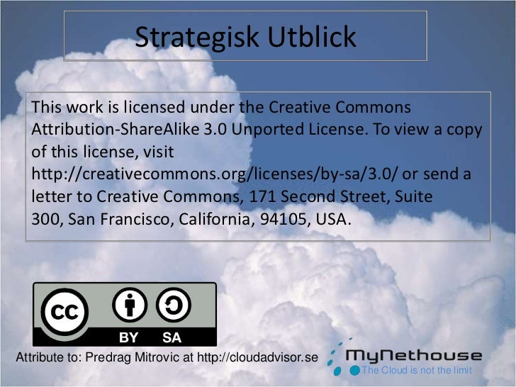 Strategisk Utblick<br />This work is licensed under the Creative Commons Attribution-ShareAlike 3.0 Unported License. To v...