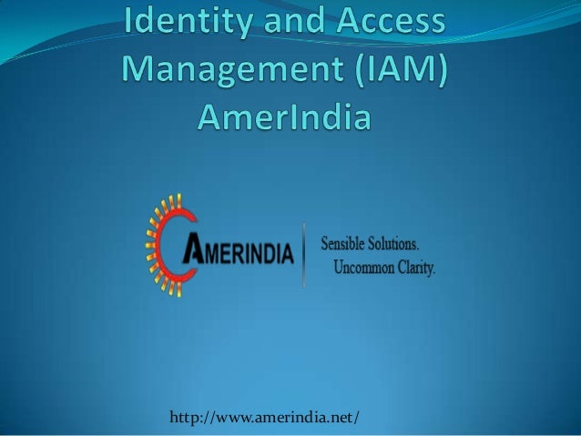 Identity and Access Management (IAM) - AmerIndia Technologies