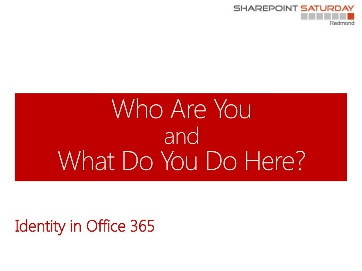 Identity in Office 365