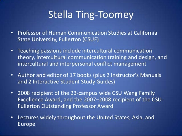a look at intercultural interaction of stella ting toomey Scholars working in the intercultural field, including william gudykunst and stella ting-toomey this compilation of quotations covers the following aspects: section 1: understanding mindfulness and mindlessness.