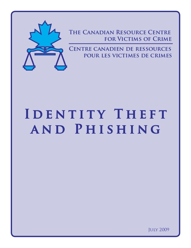 Identity Theft and Phishing - Canadian Resource Centre for Victims