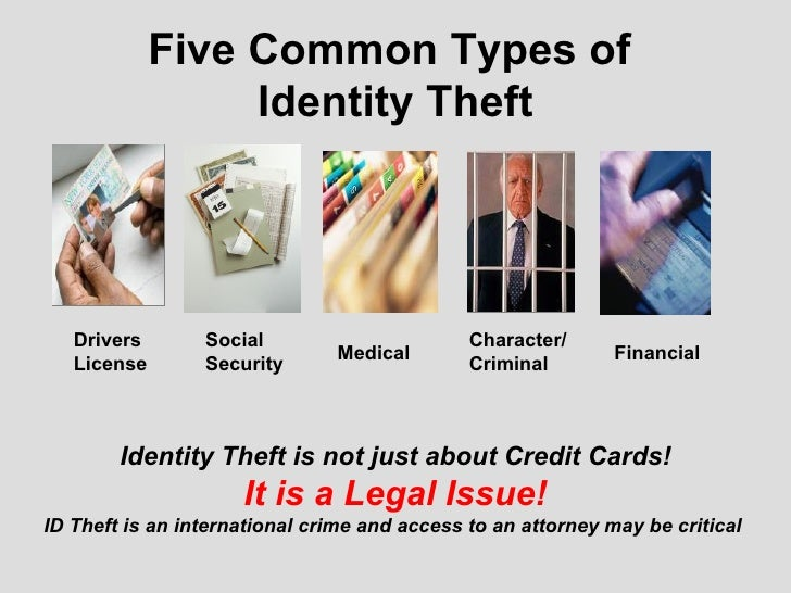 five common types of identity theft drivers license social security