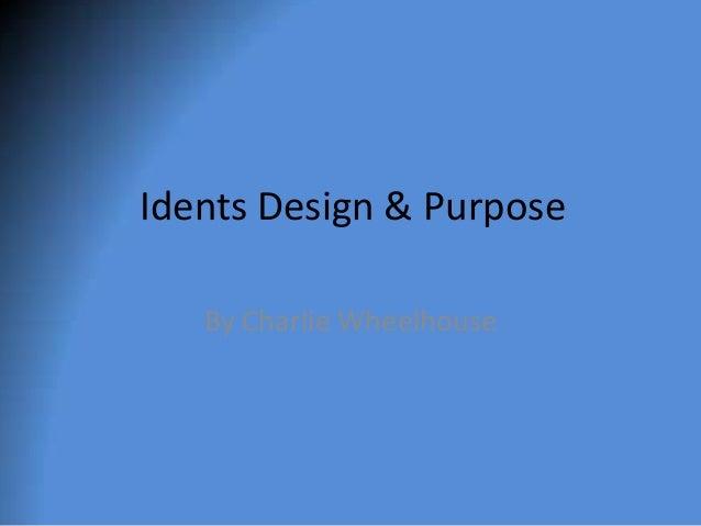 Idents powerpoint