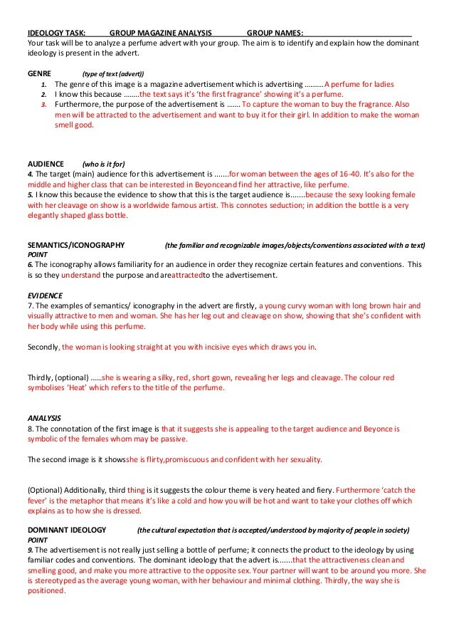 Ideologies Essay