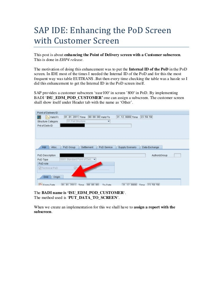IDE PoD Screen Enhancement